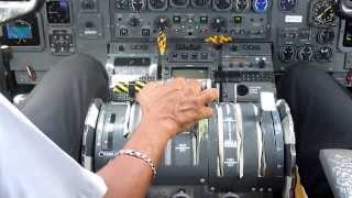 getlinkyoutube.com-Dash 8 Takeoff Grenada(cockpit)