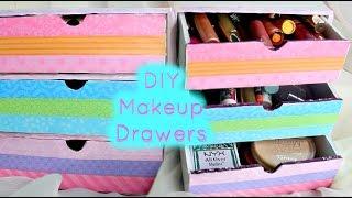 getlinkyoutube.com-DIY Makeup Drawers/Organizers