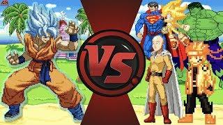 Goku vs The World! (Goku vs Saitama, Sonic, Hulk, Naruto & More) Dragon Ball Super Animation Rewind