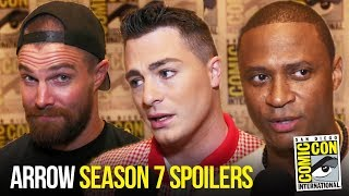 Arrow Cast Expect MORE Action & Crossovers in Season 7 | Comic Con 2018 Interview width=