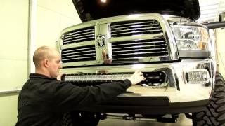 "getlinkyoutube.com-Installation of a 30"" Bulldog Lighting LED Lightbar on 2012 Dodge Ram 3500"