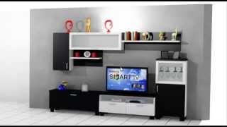 getlinkyoutube.com-como hacer un mueble de salon moderno