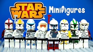 getlinkyoutube.com-LEGO Star Wars Clone Troopers KnockOff Minifigures Set 6 Captain Rex & Commander Gree