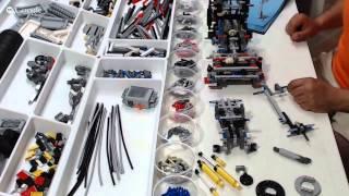 getlinkyoutube.com-LEGO Technic 42043, Mercedes-Benz Arocs 3245 - Live Build Event