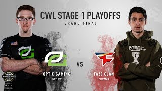 OpTic Gaming vs. FaZe Clan #2 | Grand Finals | CWL Pro League Stage 1 Playoffs 2018