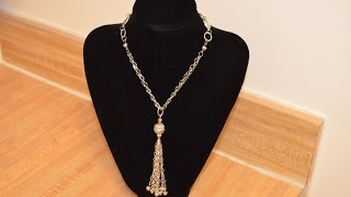 getlinkyoutube.com-Jewelry Tutorials: Episode 18: Tassel Necklace