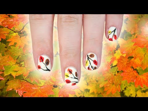 Fall Leaves Nail Art | TotallyCoolNails