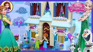 getlinkyoutube.com-Lego Frozen Fever Arendelle Celebration Castle Disney Princess Build Review Play - Kids Toys