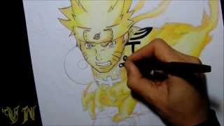 getlinkyoutube.com-DRAWING NARUTO CHAKRA MODE By VanderNinja