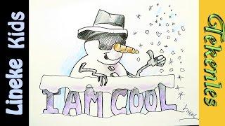 getlinkyoutube.com-Hoe teken je een Coole Sneeuwpop met zonnebril :D tekenles #38