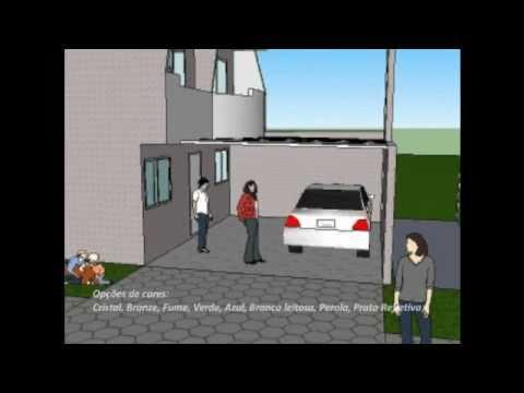 garagem em residencia - em 3D - cliente Polysolution