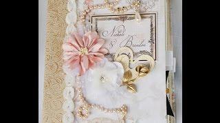"getlinkyoutube.com-Blue Fern Studios ""Love Story Collection"",  Wedding combination Guest / photo scrapbook mini album"