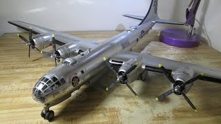 getlinkyoutube.com-Building Revell B-29 Superfortress. From Start to Finish. 1/48 Scale.