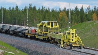 getlinkyoutube.com-Worlds largest track layer - Plasser & Theurer SVM1000 Infranord at Haparandabanan, Sweden