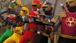 getlinkyoutube.com-Power Rangers Ninja Storm - Tori vs the Evil Power Rangers (The Wild Wipeout Episode)