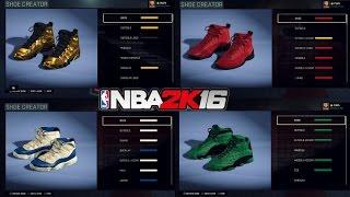 getlinkyoutube.com-Shoe Collection Tut | Jordan Clamp God 9's , Red Tape 12's & Many more ! NBA 2K16 - Prettyboyfredo