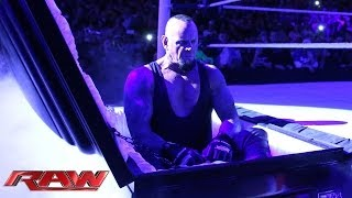 getlinkyoutube.com-Undertaker rises from a coffin to attack Brock Lesnar: Raw, March 24, 2014