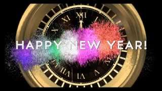 getlinkyoutube.com-HAPPY NEW YEAR COUNTDOWN CLOCK ( v 204 ) Timer with sound Effects + Fireworks 2017 4k