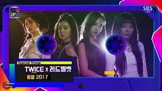 171217 Red Velvet 레드벨벳 TWICE 트와이스 collab stage @ SBS Gayo Daejeon 2017