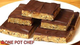getlinkyoutube.com-No Bake Chocolate Crunch Slice | One Pot Chef