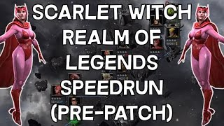 Realm of Legends Speedrun with Scarlet Witch (Pre-Patch) - Marvel Contest Of Champions