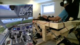 getlinkyoutube.com-DIY 6DOF Motion Platform - FlyInside FSX - Oculus Rift DK2