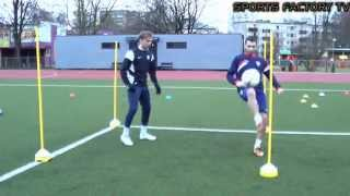getlinkyoutube.com-Sports Factory •  Individual Football training • Agility, Coordination, Ball control, Heading (HD)