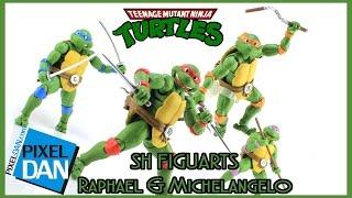 SH Figuarts Teenage Mutant Ninja Turtles Raphael & Michelangelo Figures Video Review