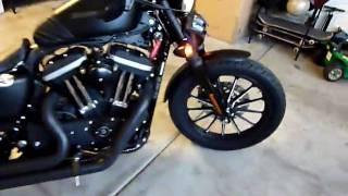 getlinkyoutube.com-Custom blacked out Harley Iron
