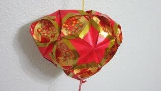 getlinkyoutube.com-CNY TUTORIAL NO. 55  - Heart shaped Hongbao Lantern