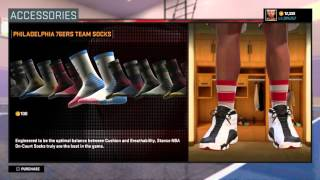 getlinkyoutube.com-NBA 2K16 STANCE SOCKS | HOW TO FIX THE ARM SLEEVE GLITCH