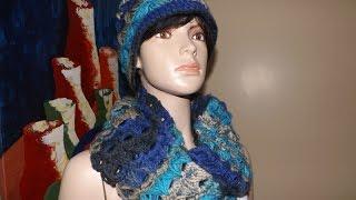 getlinkyoutube.com-Crochet Bufanda Circular Con Punto Peruano