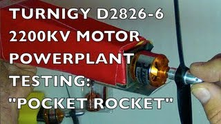 "getlinkyoutube.com-D2826-6 2200KV POWERPLANT TESTING - ""Pocket Rocket"""