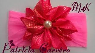 getlinkyoutube.com-Flor de fita decorada  - MK