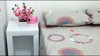 getlinkyoutube.com-DIY/Faça você mesmo: criado-mudo de isopor gastando apenas R$ 30,00 - Bruna Leal