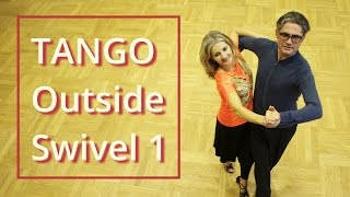 getlinkyoutube.com-How to Dance Tango? | Outside Swivel 1 | Silver Routine