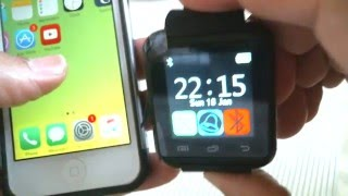 getlinkyoutube.com-How to Pair U8 SmartWatch to Iphone 5