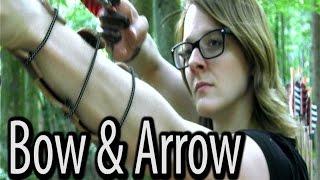 getlinkyoutube.com-Survival Weapon - Bow & Arrow
