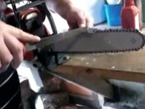 como afiar corrente de motosserra   HOW TO SHARPEN CHAINSAW CHAIN