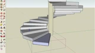 getlinkyoutube.com-Escada Espiral SketchUp 6