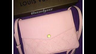 getlinkyoutube.com-Louis Vuitton Reveal: Monogram Empreinte Pochette in Rose Ballerine