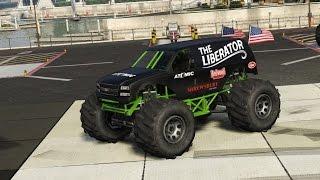 getlinkyoutube.com-GTA 5 RARE CARS - The Liberator (Monster truck) Location - PS4