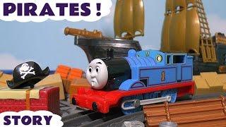 getlinkyoutube.com-Thomas & Friends Pirates Toy Trains Toy Story with Minions - Cranky Crane fun episode TT4U