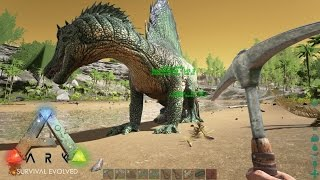 getlinkyoutube.com-Ark Survival Evolved: Part 16 - TAMING A SPINOSAURUS!