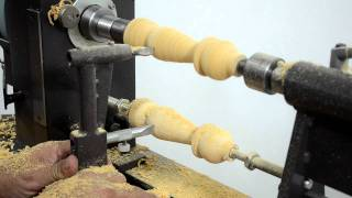 getlinkyoutube.com-MegaTurn Woodturning Lathe: Copying from a Sample