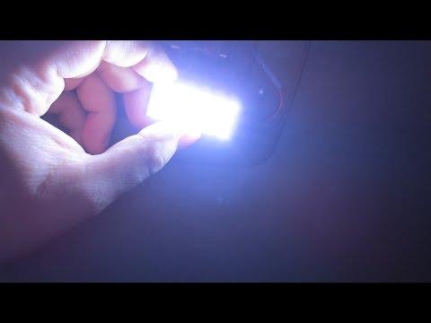 Установка LED освещения салона ланос(сенс).