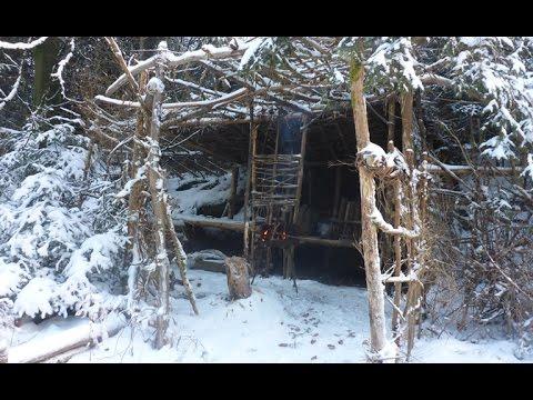 Bushcraft Camp im Schnee | Winter Outdoor