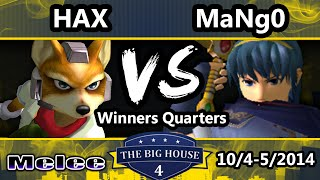 getlinkyoutube.com-The Big House 4 - Hax (Fox) Vs. Mango (Captain Falcon, Marth) - Winners Quarters - SSBM