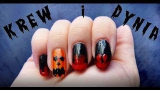 getlinkyoutube.com-♦ Wzorki na paznokcie na Halloween - krew i dynia ♦