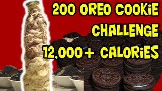 getlinkyoutube.com-200 Oreo Tower Challenge (12,000+Cals)